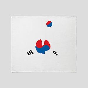 South Korea Soccer Throw Blanket