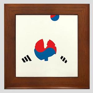 South Korea Soccer Framed Tile