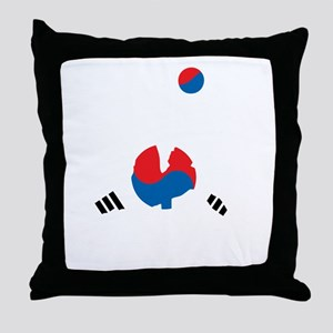South Korea Soccer Throw Pillow
