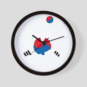 South Korea Soccer Wall Clock