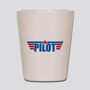 Pilot Aviation Wings Shot Glass
