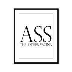 Ass.... (large) Framed Panel Print