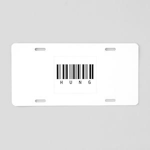 Hung 2 Aluminum License Plate