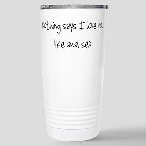 I love Anal (large) Stainless Steel Travel Mug