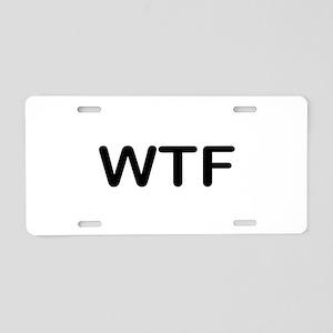 WTF Aluminum License Plate