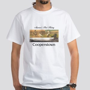 Cooperstown Americasbesthistory.com White T-Shirt