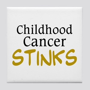 Childhood Cancer Stinks Tile Coaster