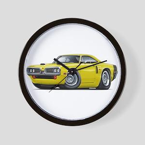1970 Coronet Yellow-Black Car Wall Clock