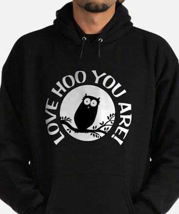 Owl - Love Hoo You Are Hoodie (dark)