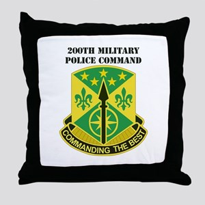 DUI-200th Military Police Command with Text Throw