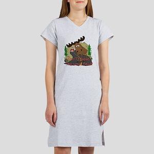 Moose humor Women's Nightshirt