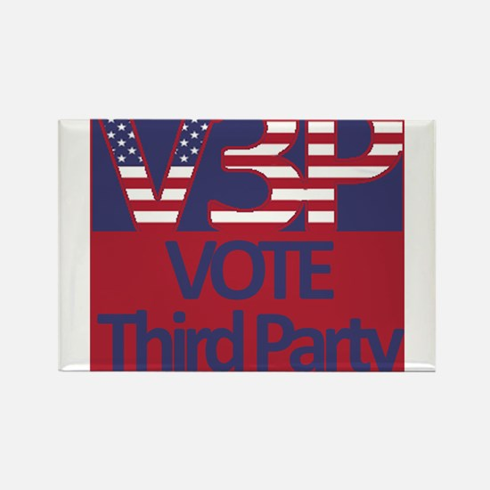 V3P - Vote Third Party Rectangle Magnet