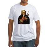 J.S. Bach on Viola Fitted T-Shirt