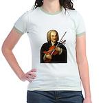 J.S. Bach on Viola Jr. Ringer T-Shirt