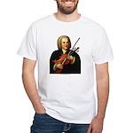 J.S. Bach on Viola White T-Shirt