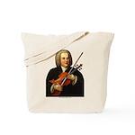 J.S. Bach on Viola Tote Bag