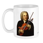 J.S. Bach on Viola Mug