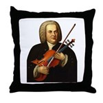 J.S. Bach on Viola Throw Pillow