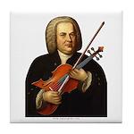 J.S. Bach on Viola Tile Coaster