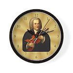 J.S. Bach on Viola Wall Clock