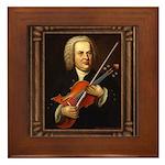 J.S. Bach on Viola Framed Tile