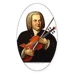 J.S. Bach on Viola Sticker (Oval)