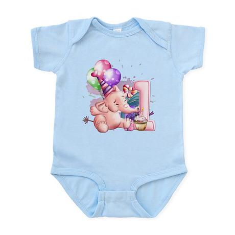Pink Elephant Infant Bodysuit
