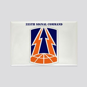 335th Signal Command with Text Rectangle Magnet