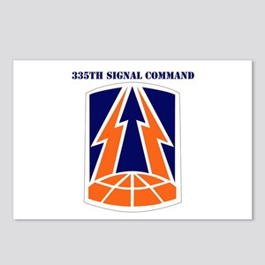 335th Signal Command with Text Postcards (Package