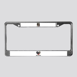 LAUGHING PUG  License Plate Frame