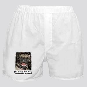 LAUGHING PUG  Boxer Shorts