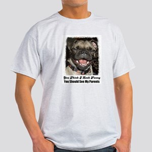 LAUGHING PUG  Ash Grey T-Shirt