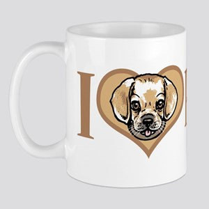 I Love Puggles Mug