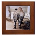 Rhino's Butt - Framed Tile