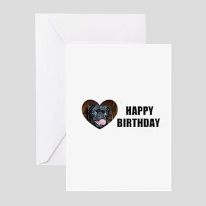 HAPPY BIRTHDAY PUGG Greeting Cards (Pk of 10)