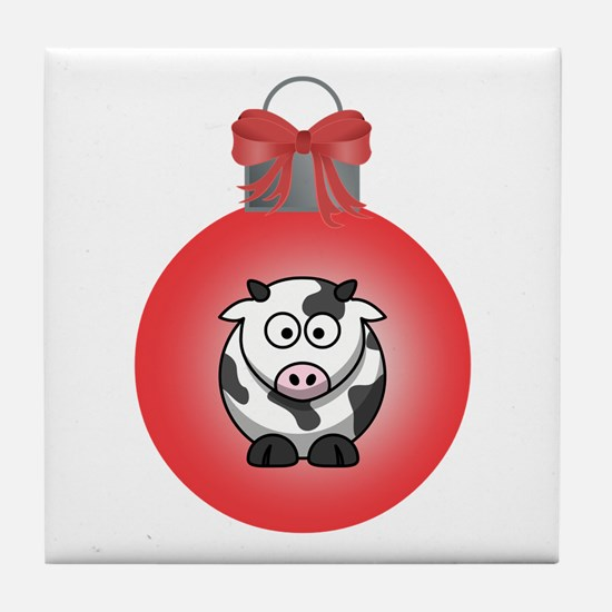 ORNAMENT - COW Tile Coaster