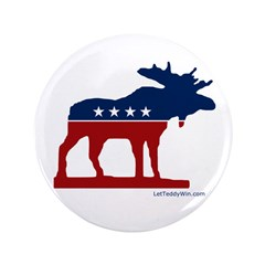 Bull Moose Party Button