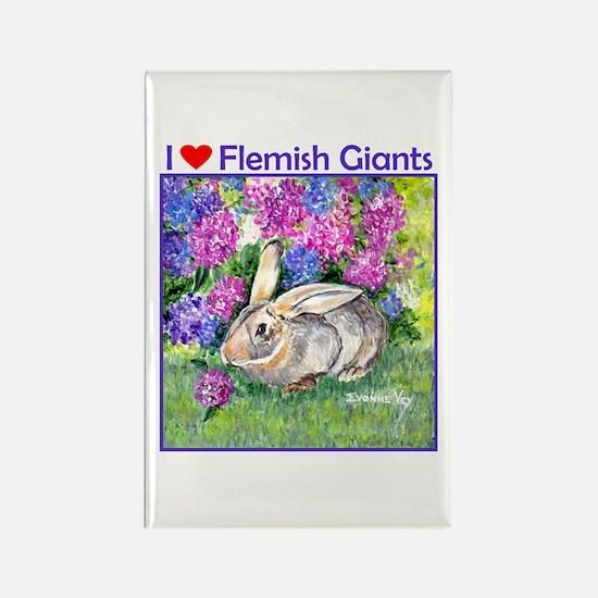 Flemish Giant Rabbit Rectangle Magnet