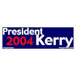President Kerry 2004 Bumper Sticker
