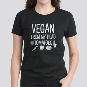 Vegan from my head tomatoes funny shirt T-Shirt