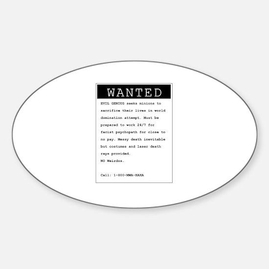 Cute Minions Sticker (Oval)