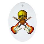 Skull & Guitar Ornament (Oval)