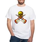 Skull & Guitar White T-Shirt