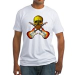 Skull & Guitar Fitted T-Shirt