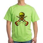 Skull & Guitar Green T-Shirt