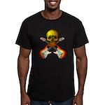Skull & Guitar Men's Fitted T-Shirt (dark)