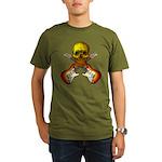 Skull & Guitar Organic Men's T-Shirt (dark)