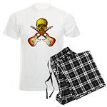 Skull & Guitar Men's Light Pajamas