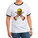 Skull & Guitar Ringer T
