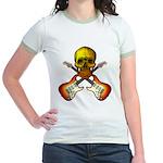Skull & Guitar Jr. Ringer T-Shirt